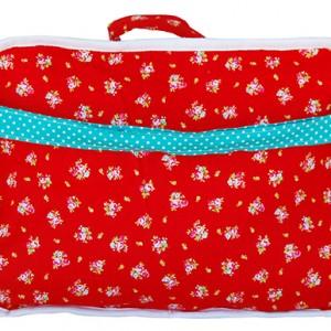 maleta cigüeña rojo  frente